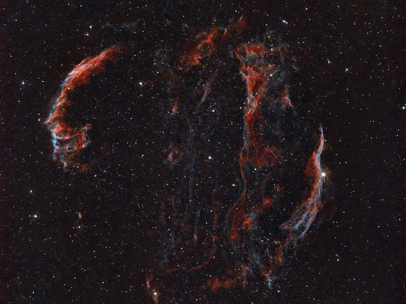 NGC 6992,NGC 6990,Ha+O3 von Karl-HEinz Kathemann