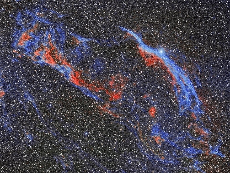 NGC 6960 - NGC 6992 - Cirrusnebel, von Paul Schuberth