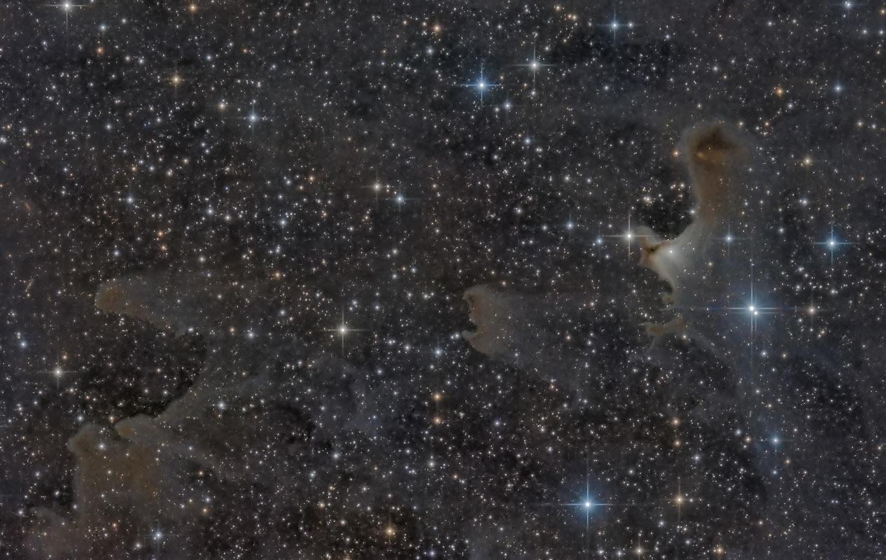 Sharpless Sh2-136, VdB 141, Ghost Nebula