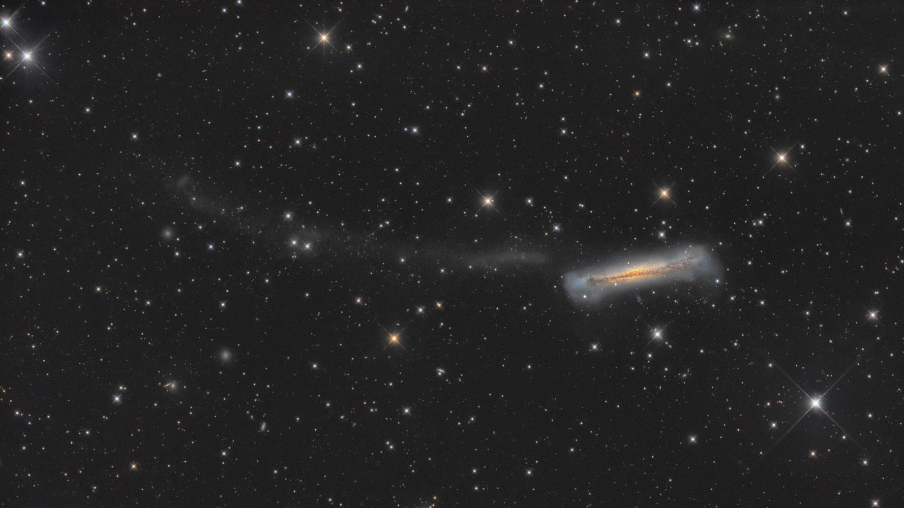 NGC 3628, Hamburger Galaxie, Fotografie