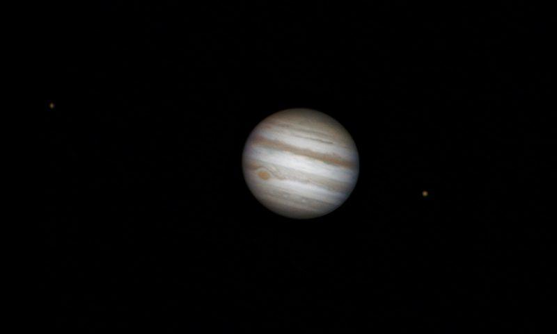 Jupiter Aufnahme mit den Monden Io und Europa