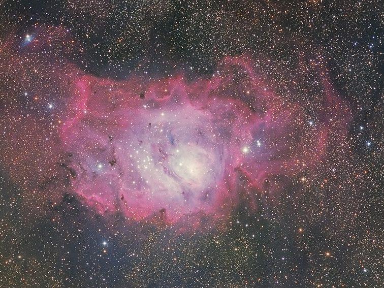 Messier 8 und Messier 20,von Paul Schuberth
