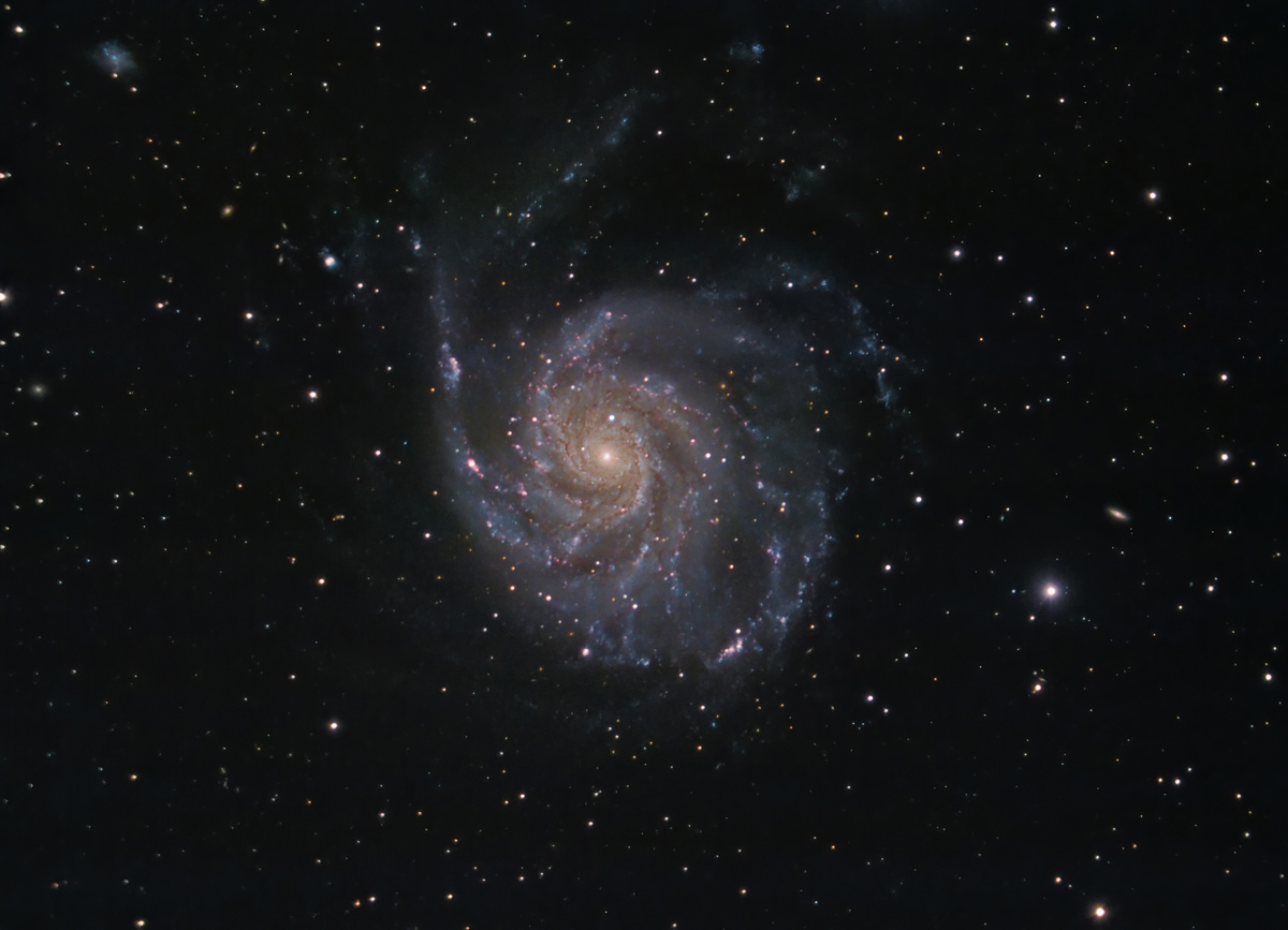 Messier 101 (NGC5457) Feuerrad-Galaxie im Großen Wagen