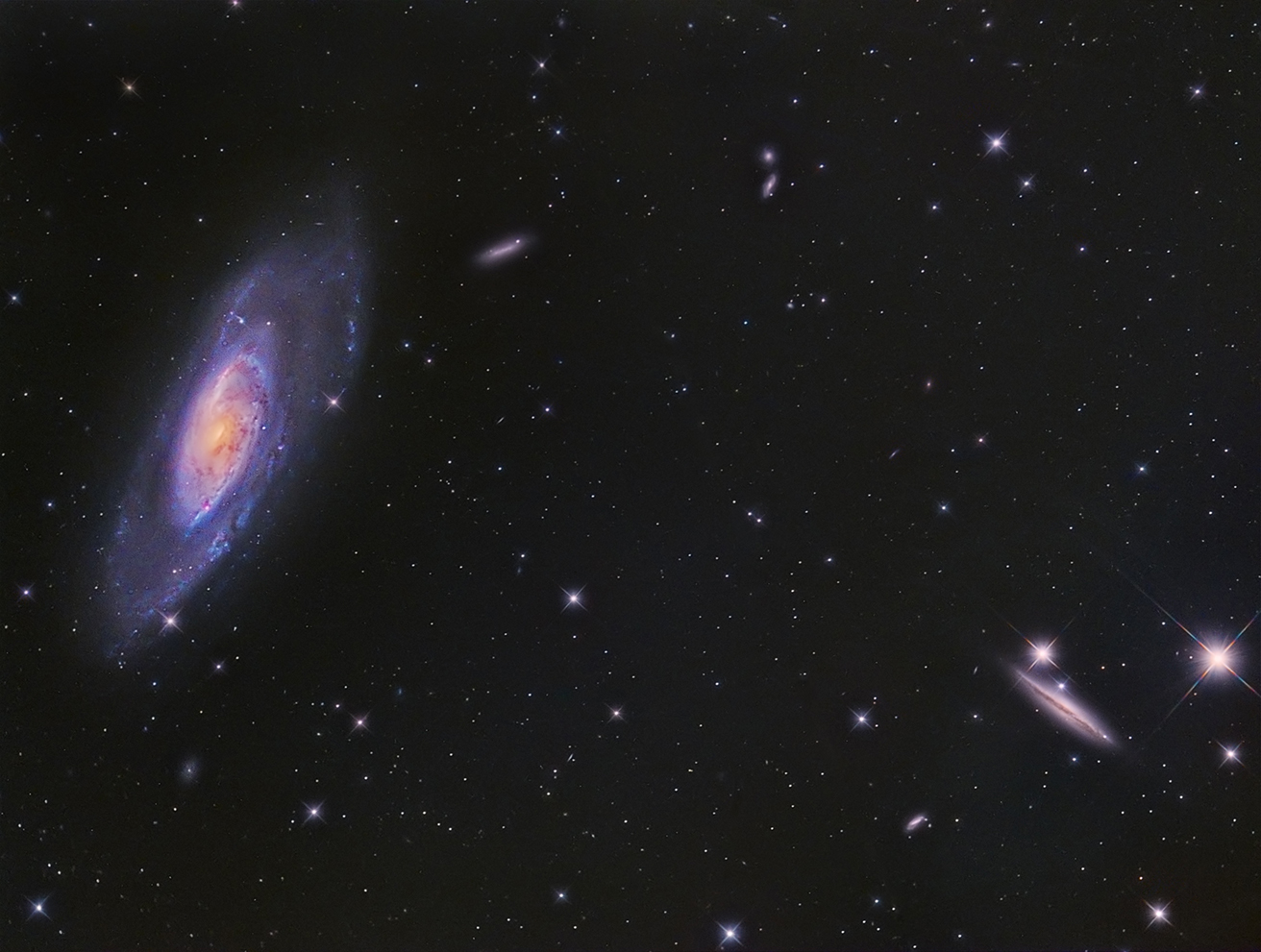 M106 and Friends, von Paul Schuberth