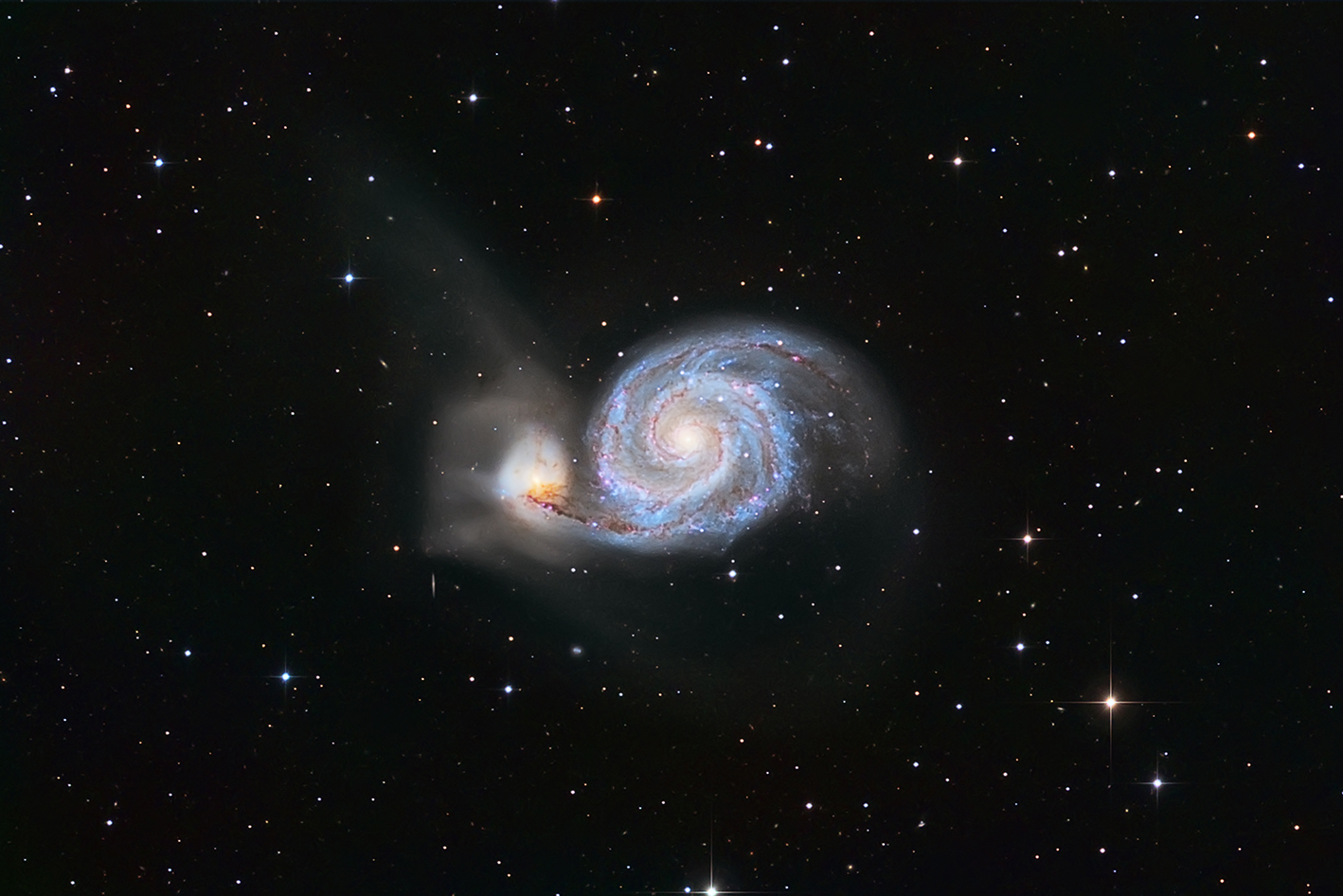 Messier 51- Whirlpool Galaxy, von Paul Schuberth