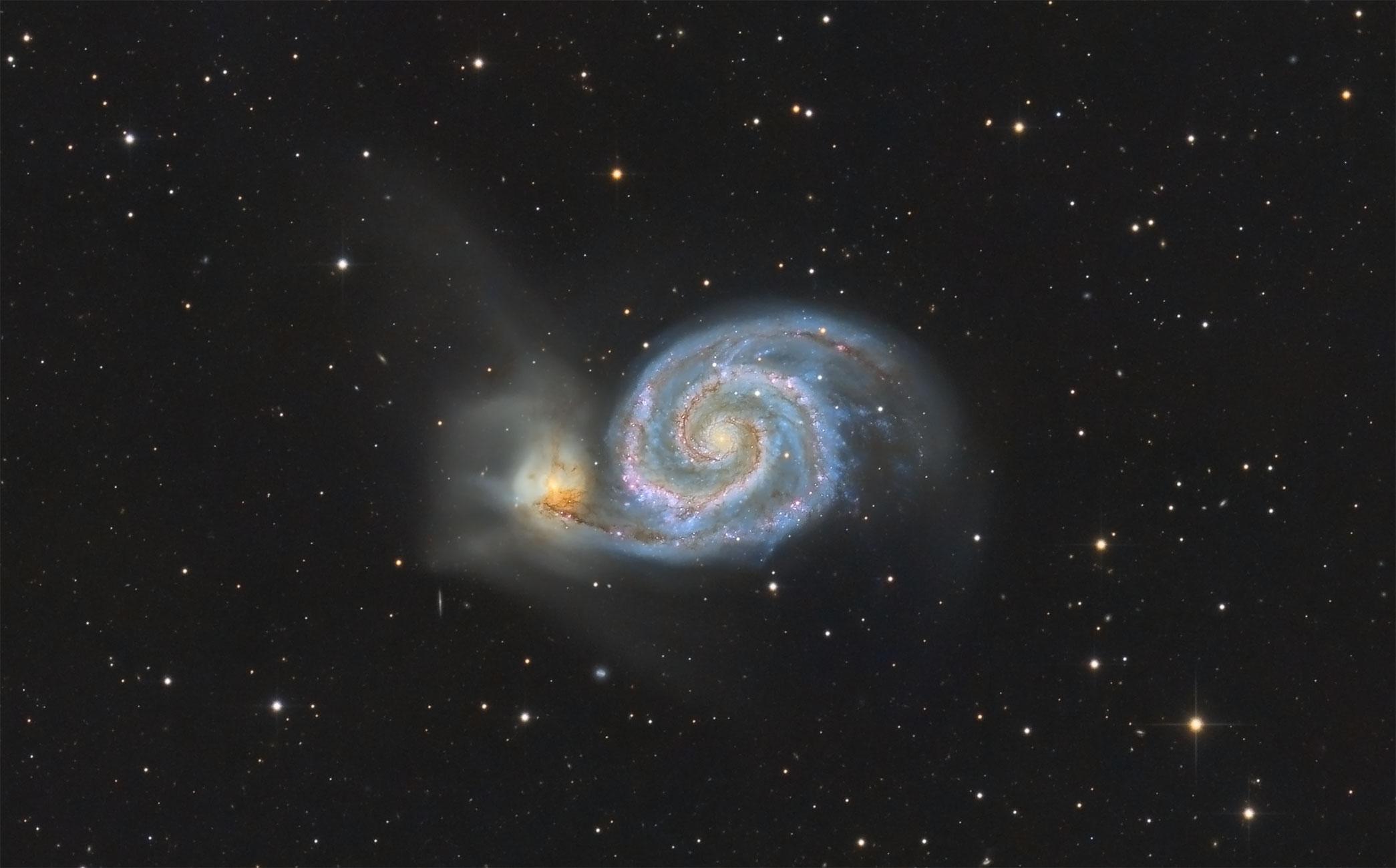 Messier 51 - Strudelgalaxie von Claus Müller