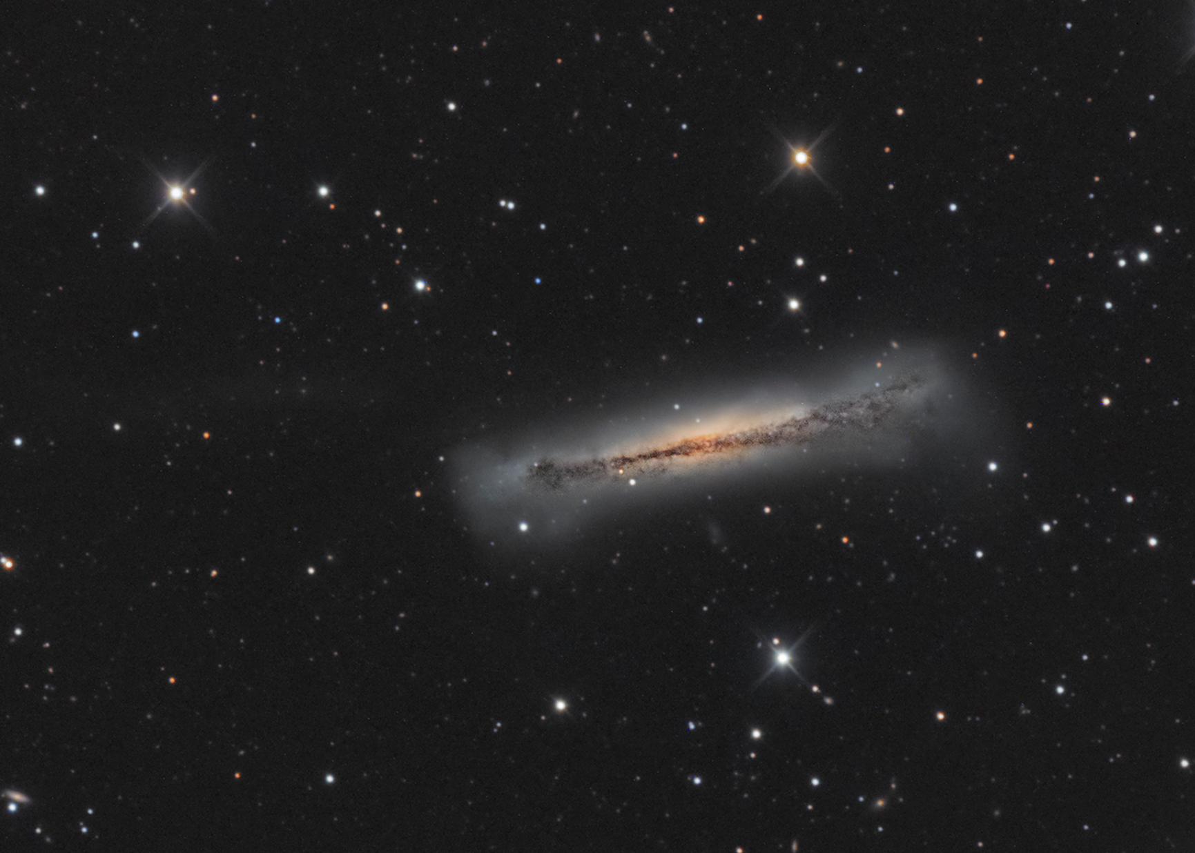 NGC 3628_Hamburger Galaxie