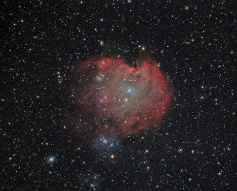 NGC2174 Monkeyhead RGB/H-Alpha von Hartmuth Kintzel
