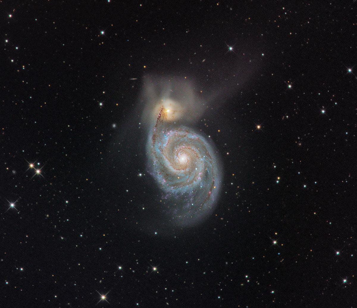 Messier 51 - M51 - Strudelgalaxie von Stefan Westphal