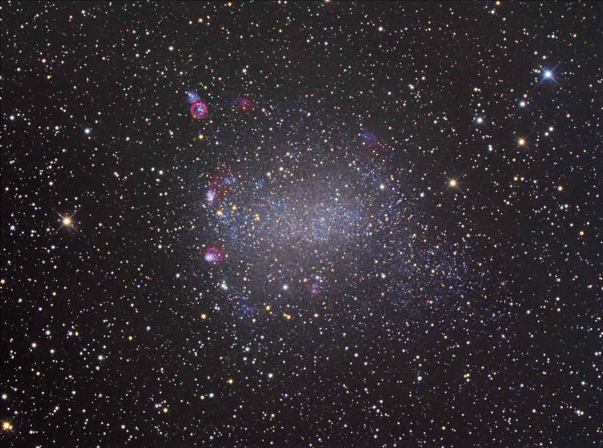NGC 6822 Barnards Galaxie von Claus Müller